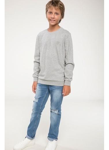 DeFacto Basic Sweatshirt Gri